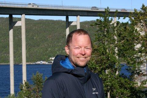 HELT SJEF: Jørn Tore Fjellstad på Silsand gleder seg over jobben han har fått som fabrikksjef i Salmar.