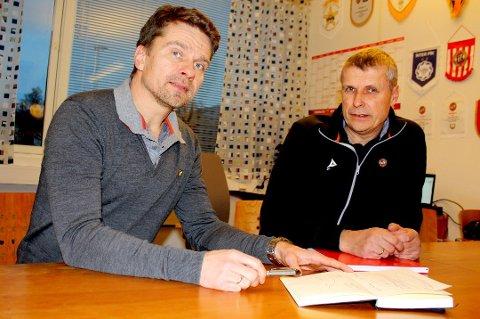 OVERRASKET: Sportssjef Svein-Morten Johansen (t.v) ble overrasket over at utviklingssjef Truls Jenssen (t.h) gikk til Brann. Onsdag ble klubbskiftet bekreftet.
