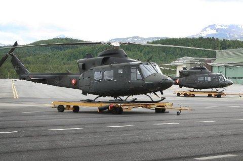 BRUKES SOM AMBULANSE: Ett Bell 412-helikopter tilhørende 339 skvadron. Her fotografert på Bardufoss flystasjon ved en tidligere anledning.