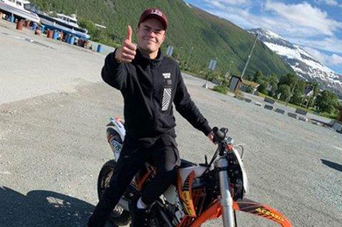 TILBAKE: Motorsykkelen til Henrik Ribe (23) ble funnet fredag.