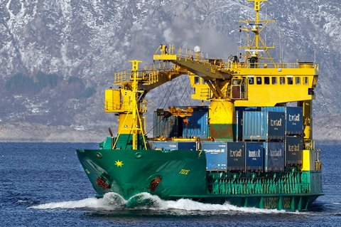 LAGT NED: Ruta med MS «Tege» ble lagt ned i 2013, men nå håper aktører i både Tromsø og Bodø på en ny, nordnorsk godsbåt.