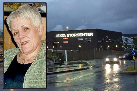 PÅ TROMSØ-BESØK: Storsvindleren Marie Madelein Larsen ble observert av personalet i flere butikker på Jekta i begynnelsen av forrige uke, opplyser senterleder Laila Myrvang.