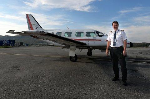 PÅ VINGENE: Tommy Flakk er ny sjef for UTSA, universitetets flygerutdanning på Bardufoss.