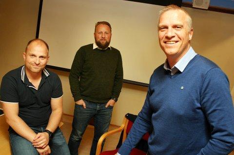 FORHANDLERE: Senja Sp har satt ned et forhandlingsutvalg med Bjørn Richard Pedersen (t.v.), Anders Killie Solli og Tom Rune Eliseussen.