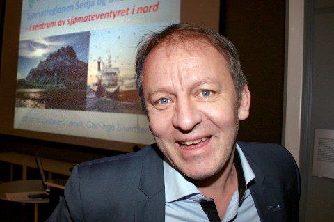 HAVETS MANN: Geir-Inge Sivertsen har lenge snakket om sjømateventyret i nord, her under et seminar på Finnsnes. Nå kan han som fiskeriminister dra eventyret enda lenger.