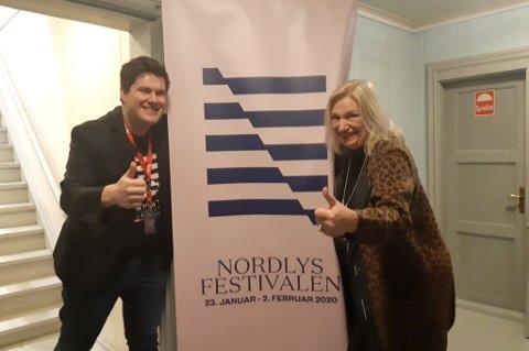 I GANG: Nordlysfestivalen er et høydepunkt for både Kent-Einar Myreng og Line Fusdahl. Torsdag gikk årets utgave av stabelen. Festivalen varer frem til kommende søndag.