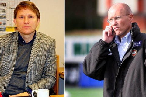 TIL-LEGENDER: Steinar Nilsen og Morten Kræmer skal hjelpe trenerløse Fløya en periode.