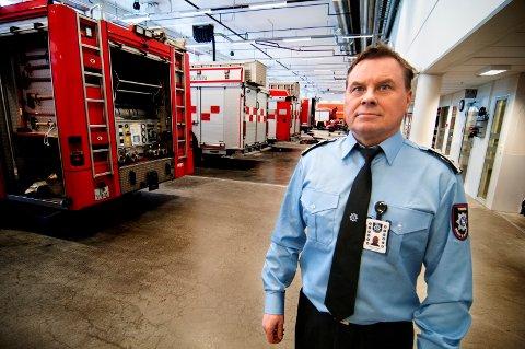 STASJON: Øystein Solstad er brannsjef i Tromsø.