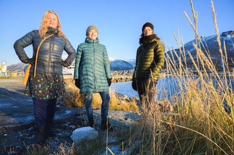 LEI: Ingeborg Solvang, Inger-Elin Øye og Barbro Husebye vil ha en åpen by, der man kan se den fantastiske naturen som omgir Tromsø.