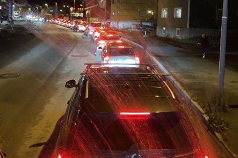 KØ: Slik så det ut på Stakkevollvegen mandag ettermiddag.
