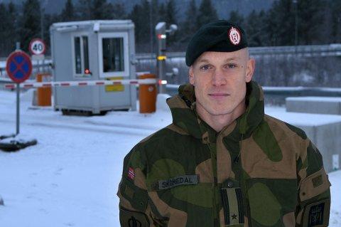 STRAMMER INN: Soldatene får portforbud og de forsvarsansatte skal begrense bevegelsene sine i Setermoen leir, forteller major Eirik Skomedal som er talsmann for Hæren.