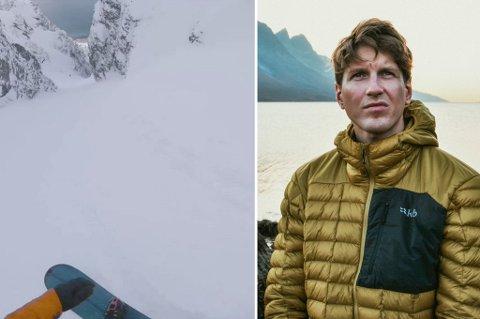 HEFTIG: Krister Kopalas spektakulære nedkjøring fra en av toppene i Malangen, får folk til å kaste etter pusten.