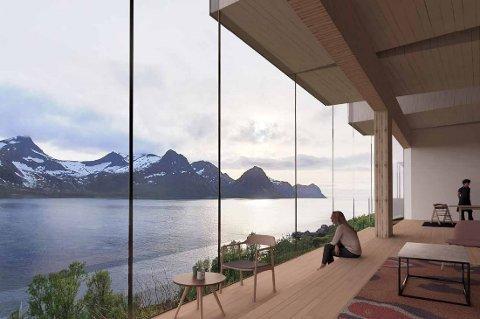 UTSIKT: Fra den nye restauranten blir det panoramautsikt ut over fjord og fjell.