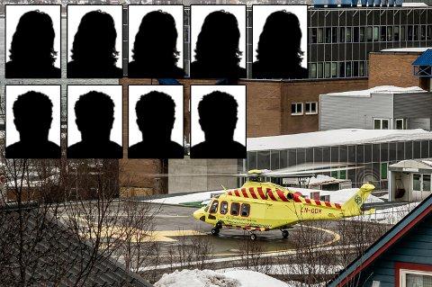 INNLAGTE PASIENTER: Det er fem kvinner og fire menn som for tiden er innlagt på UNN med koronasmitte. Tre av disse ligger i respirator.
