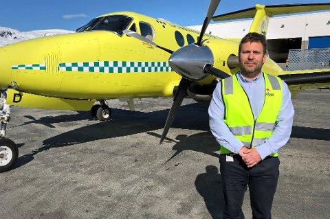 IKKE SØKSMÅL: Lufttransport og LAT HF har kommet til enighet etter en langvarig konflikt etter operatørbyttet. Direktør Frank Wilhelmsen sier enigheten også betyr at det ikke blir søksmål.