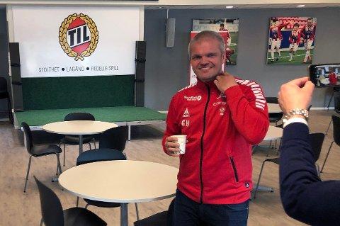 NY TIL-TRENER: Gaute U. Helstrup ble presentert som ny TIL-trener på Alfheim onsdag.