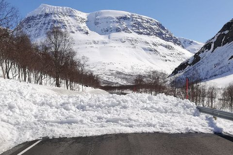 SNØSKRED: Onsdag  gikk det et skred i Tamokdalen. Dette bildet er fra en tidligere anledning.