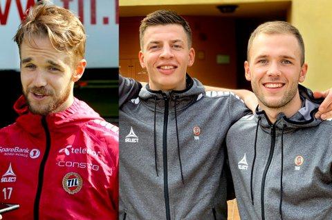 I SAMME BÅT: Både Daniel Berntsen (t.v.), Jostein Gundersen og Lasse Nilsen har avtaler med TIL som går ut ved nyttår. Samtidig som sesongen starter, kan de velge å signere for en ny klubb uten at TIL har noe de skulle ha sagt.