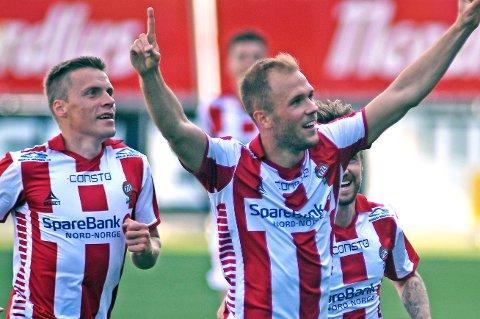 FLERE ÅR I TIL: Lasse Nilsen har startet samtlige kamper for TIL så langt i år og har signert en ny kontrakt med klubben. Foto: Rune Stoltz Bertinussen / NTB scanpix