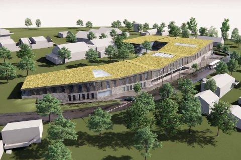GRØNT TAK: Utbyggerne planlegger både solceller og planter på taket som bretter seg ut i Gneiskvartalet i Fiolvegen og Kløvervegen.