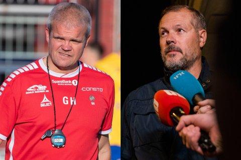 TRENERDUELL: Gaute Ugelstad Helstrup skal opp mot Kjetil Rekdal når han møter klubben han forlot til fordel for TIL, HamKam.