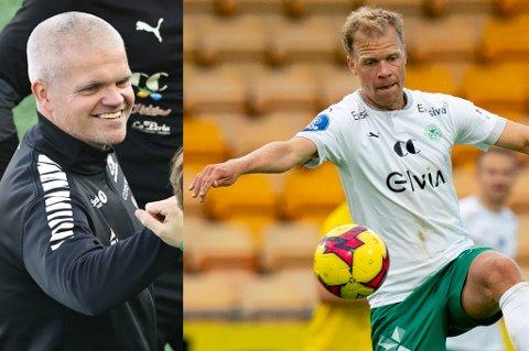 RAUS MED ROS: Gaute Ugelstad Helstrup kunne smile for tre poeng mot Jo Nymo Matland og HamKam. Helstrup mener den tidligere eleven fra TUIL og HamKam har det meste som skal til for å kunne bli en god trener.