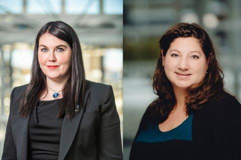 URO: Marlene Bråthen (Sp) og Tone Marie Myklevoll (Ap) er begge oppgitte over MDGs utspill om mulig samarbeidsbrudd fredag.