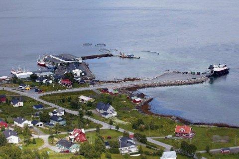 MEST REGN: Her, i Botnhamn på Senja, er det registrert mest nedbør i Troms det siste døgnet.