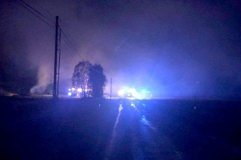 TREDJE BRANN: I helga brant en garasje ned på Gullhav i Målselv. Det er den tredje brannen i området den siste måneden.