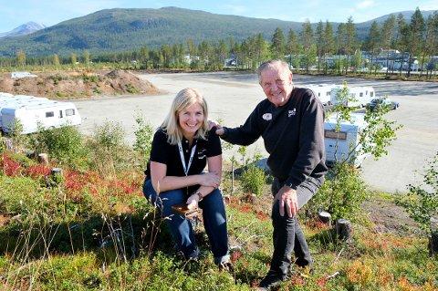 NYTT RIKE: Her skal campingdronninga Hege Lian bygge nytt til 60 millioner kroner, noe pappa Arild Lian også gleder seg til.