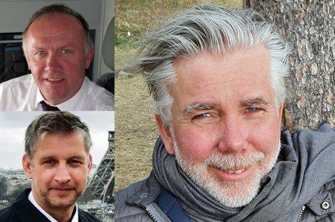 TAR SNART AV: Både Bjørn Erik Barman-Jenssen (t.h.), Asgeir Nyseth (oppe t.v.) og Frode Berg (nede t.v.) har sine røtter i nord. I løpet av noen få måneder håper de å ha lansert flyselskapet Flyr på markedet, med en rute fra Oslo til Tromsø med i fase 1.