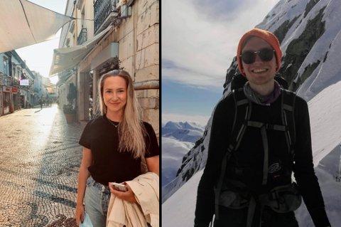 - ENKELT: For Lena Mari Johnsen(22) sto valget mellom koronarestriksjoner i snø og kulde, eller i strand og sol. Håvard Fjelltveit(25) må bryte med tradisjonen ski og hytte i påskeferien.