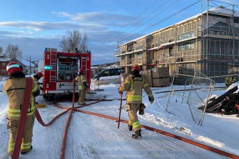 Brann i nybygg på Storneset i Sørreisa
