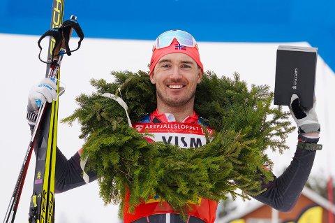 INNBRINGENDE SEIER: Andreas Nygaard vant det hundre kilometer lange Årefjällsloppet lørdag. Det ga han femti tusen kroner og god motivasjon foran en ny sesong.