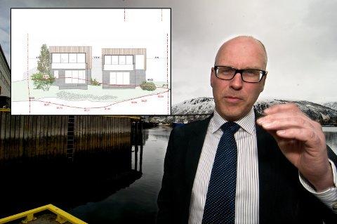 PLANER: Hallvard Østgård har boligplaner sammen med Kjetil Kræmer. Men duoen har møtt på kvist hos kommunen.