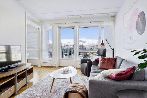 STOR INTERESSE: Det ble stor interesse for denne leiligheten i Draugen på vestsiden av Tromsøya.