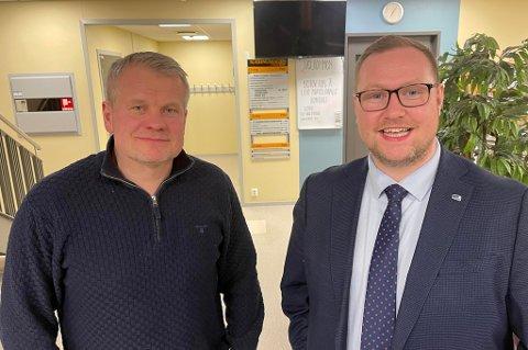 FORSVARSINDUSTRI: Høyres Martin Nymo (t.v.) og Erlend Svardal Bøe vil ha flere lokale leveranser til Forsvaret.