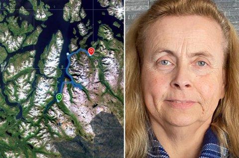 BOMTUR: På inngangsdøra på Storslett trafikkstasjon ble Anne-Lise møtt av en stor lapp. Kontoret var stengt.