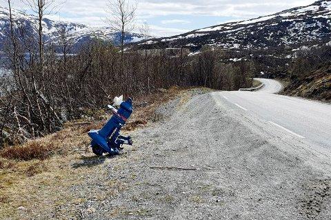 SPESIELT SYN: Vil du være med, så heng på. Moderne kunst eller miljøsvineri ved veien i Blåmannsvika?