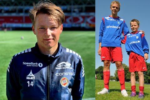 TIL-YNDLING: August Mikkelsen har brukt de fire første serierundene til å spille seg inn i hjertene på mange TIL-supportere. Til høyre på Norway Cup 2012, der 2000-modellen spilte sammen med Håvard Svendsen og de andre 1998-spillerne til TUIL.