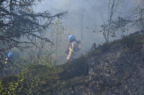 KONTROLL: Brannmannskapene fikk etter hvert kontroll på brannen.