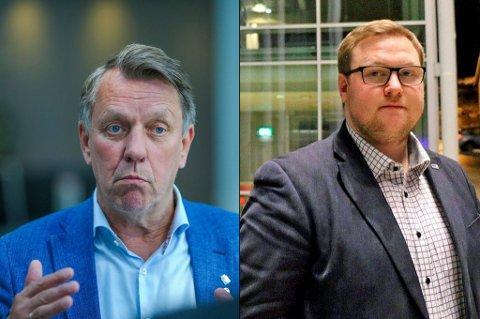 KRISEPAKKE: Erlend Svardal Bøe mener kommunen også burde bruke av egne midler til krisehjelp for bedriftene, mens ordfører Gunnar Wilhelmsen mener det er statens ansvar.