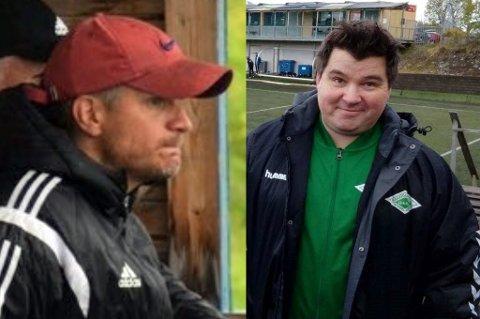 OVERKLARE: Salangen-trener Andreas Seipäjärvi (t.v.) og Ramfjord-trener Vegard Bjørn Olsen er mer enn klare for å kunne la sine lag spille kamper igjen.