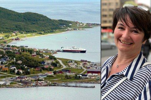 KOMMET LANGT: Karlsøy-ordfører Mona Benjaminsen skryter uhemmet over de ansatte i kommunen som har vært involvert i korona- og vaksinasjonsarbeidet. - De har virkelig gjort en stor innsats og jeg bøyer meg i støvet, sier hun.