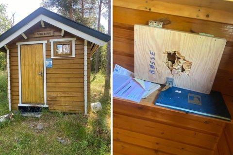 PÅ TOKT: Slik så det ut i hytta.