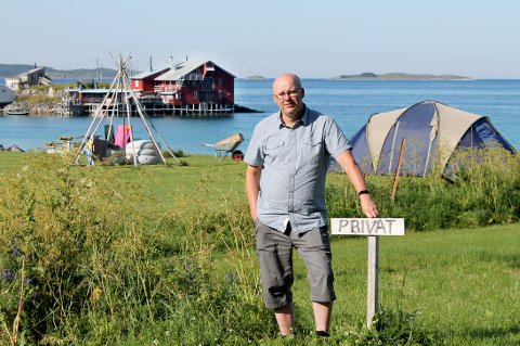 IRRITERT: Ronny Moan ønsker mer fred og mindre turisttrafikk.