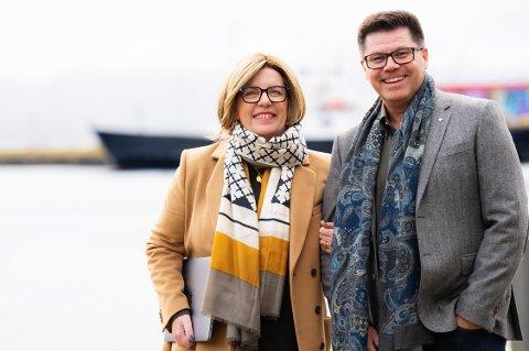 KOMPANJONGER: Annabell og Dagfinn Stefanussen, fredelige partnere både i livet og i firmaet.
