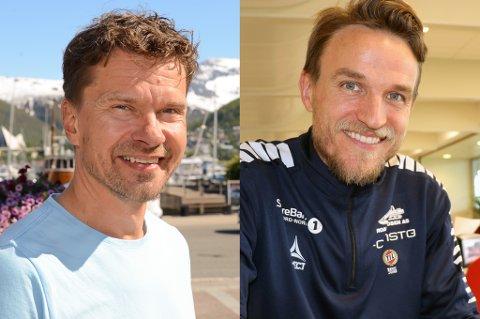 PÅ VEI UT: Både Svein-Morten Johansen og Morten Giæver gir seg i Tromsø IL. Klubben må finne en ny ledelse til sitt akademi.