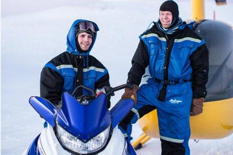 Eirik Tannvik (t.v.) driver Malangen Resort og kjøpte nylig Malangen Brygger sammen med Hans-Olav Eriksen (39) og en tredje investor.