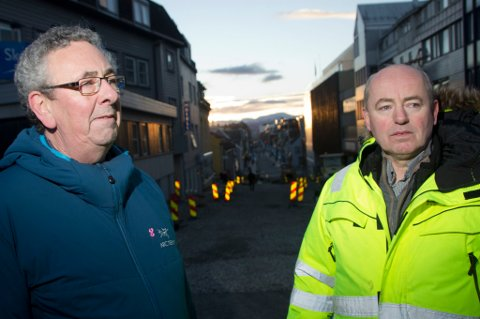 PU-leder Geir Berntsen og Morten Willumsen i Vei & tunnelservice as (eks. KIME), som er deleid av Hæhre Entreprenør